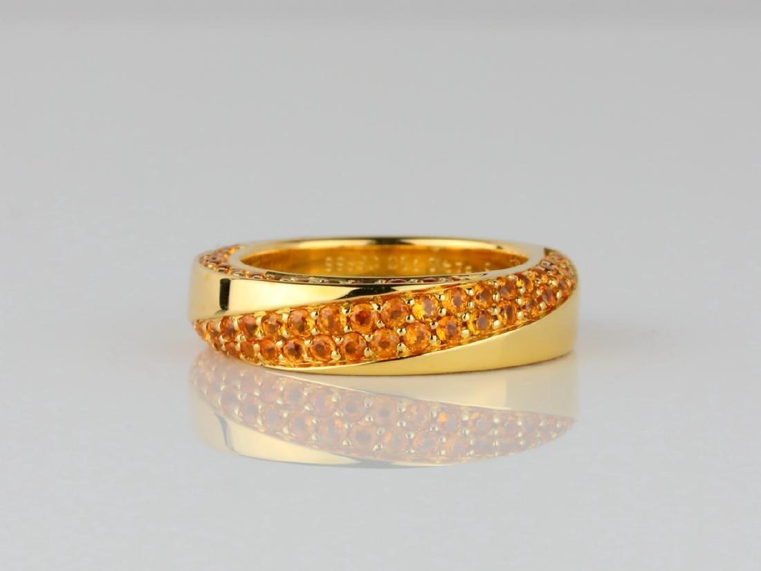 Mauboussin 1ctw Orange Sapphire 18K Serpentine Ring