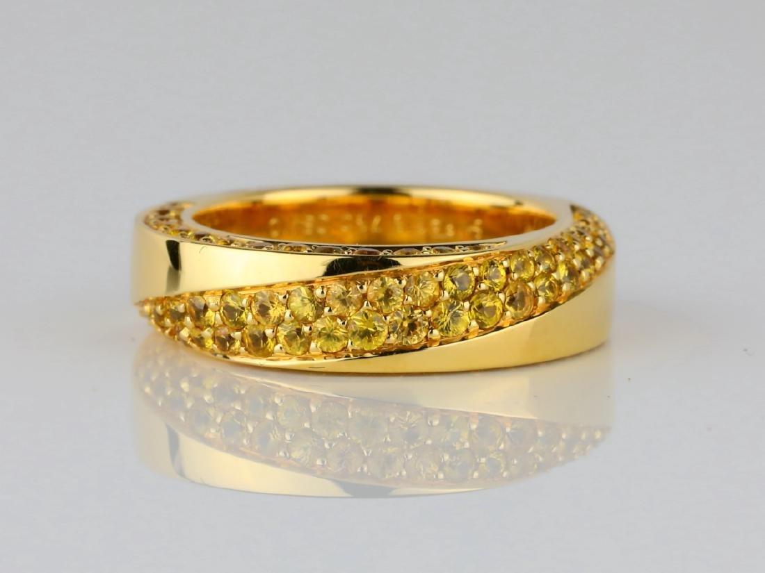 Mauboussin 1ctw Yellow Sapphire 18K Serpentine Ring