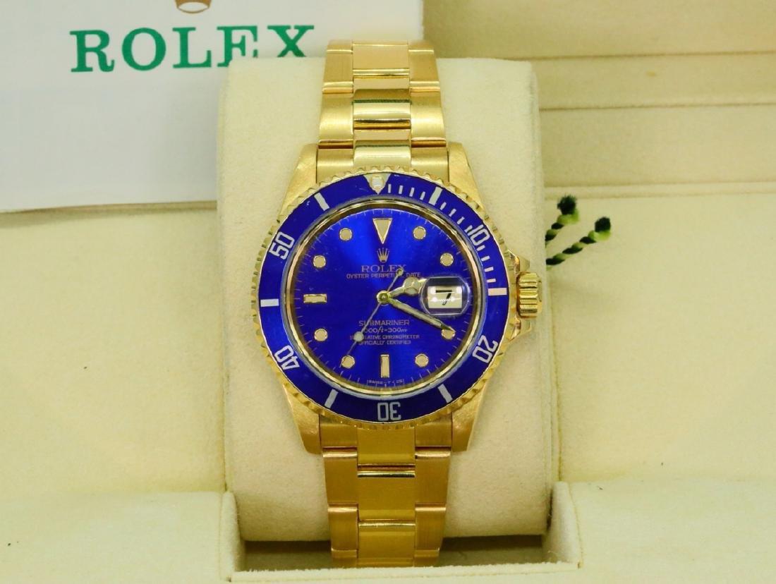 Rolex 1997 Submariner Date 40mm 18K Watch in Box