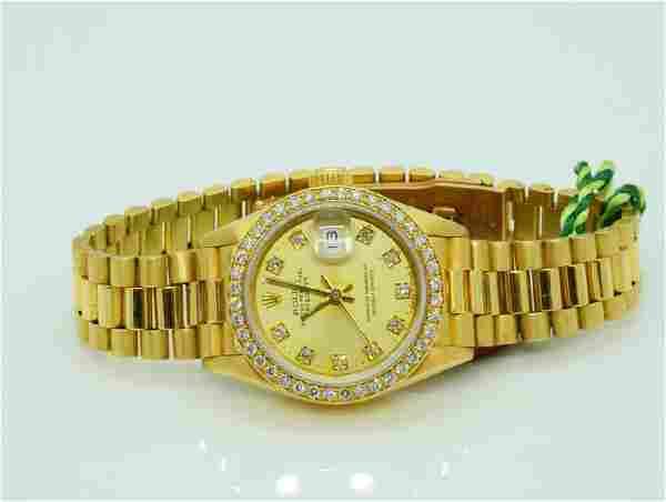 Rolex Presidential Lady Datejust 18K Watch W/Diamonds