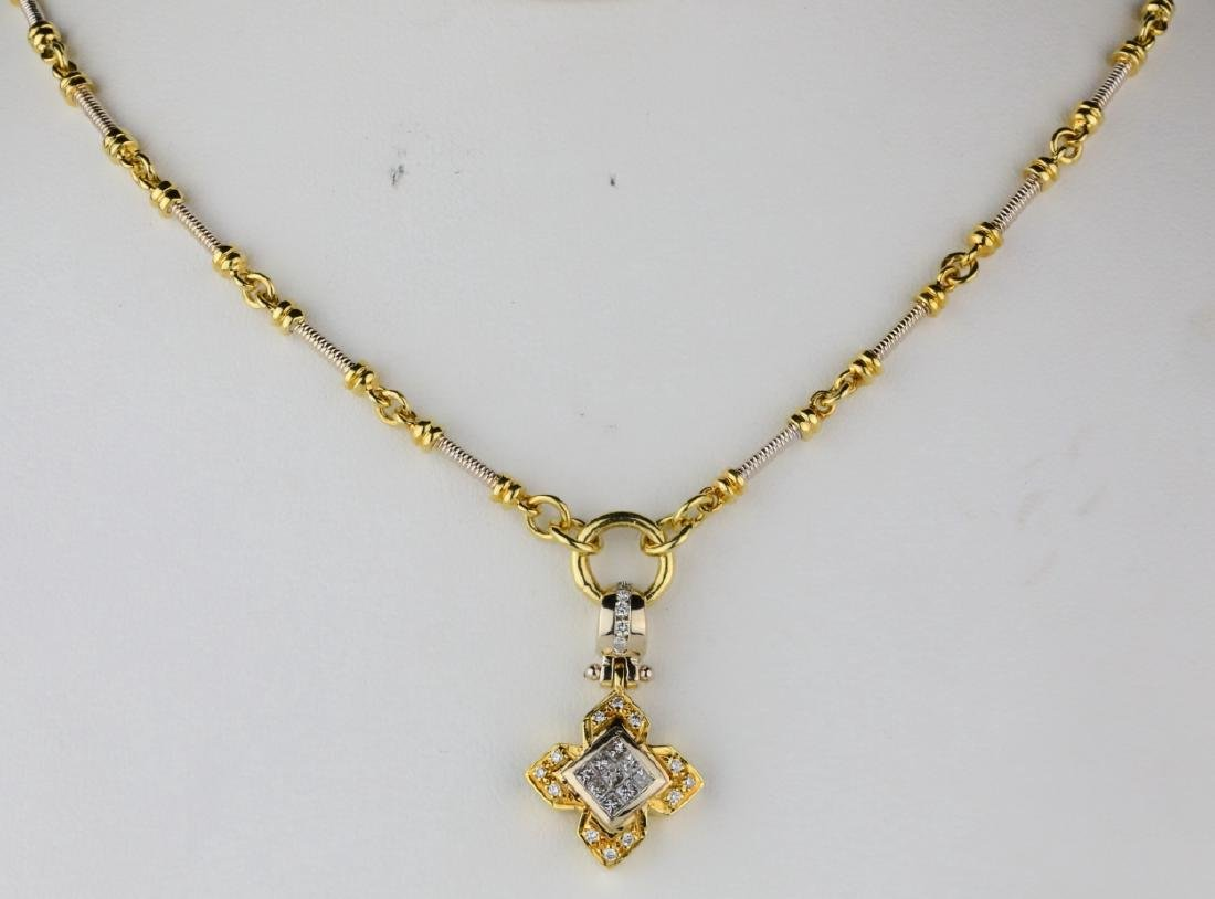 "1.00ctw VS2-SI1/G-H Diamond & 18K 20"" Necklace"