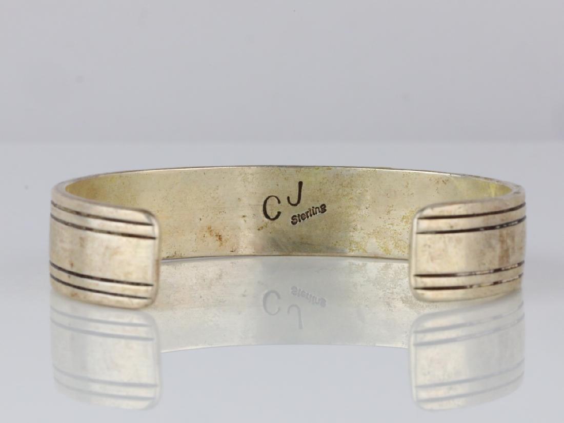 Charlie John Navajo Sterling Silver Cuff Bracelet - 4