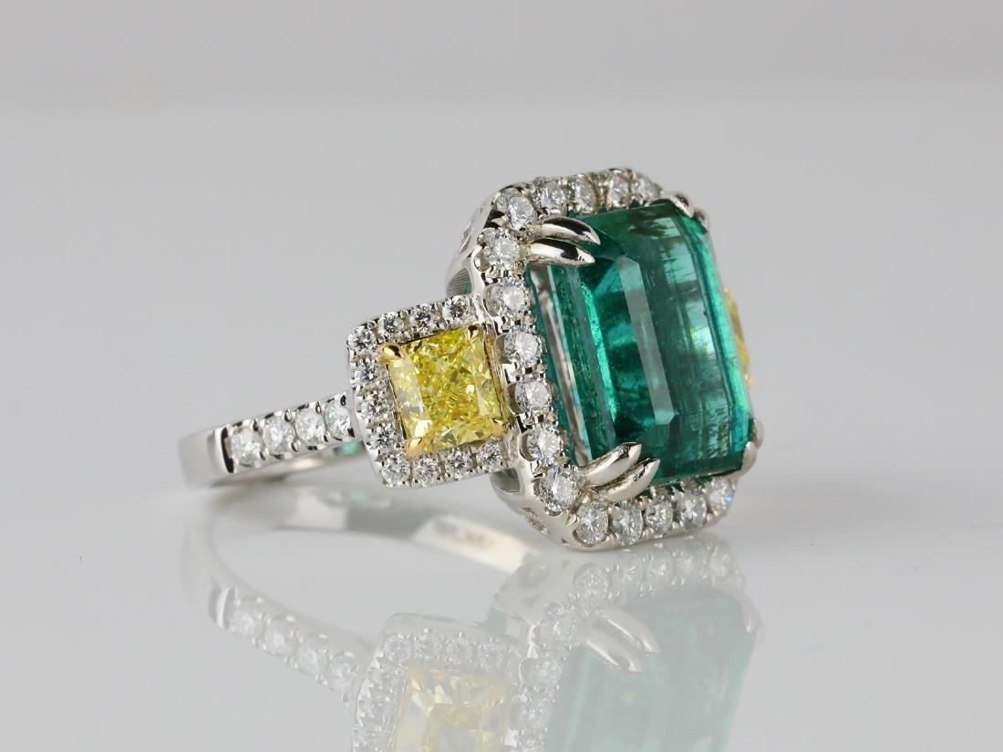 6.65ct Emerald, 2.15ctw Diamond & 18K Ring - 3