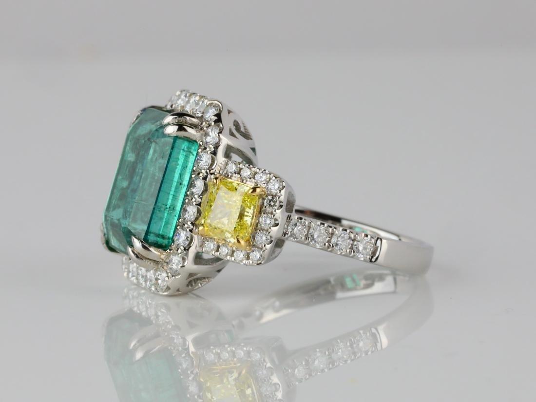 6.65ct Emerald, 2.15ctw Diamond & 18K Ring - 4