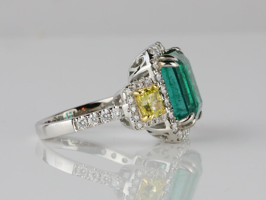 6.65ct Emerald, 2.15ctw Diamond & 18K Ring - 5