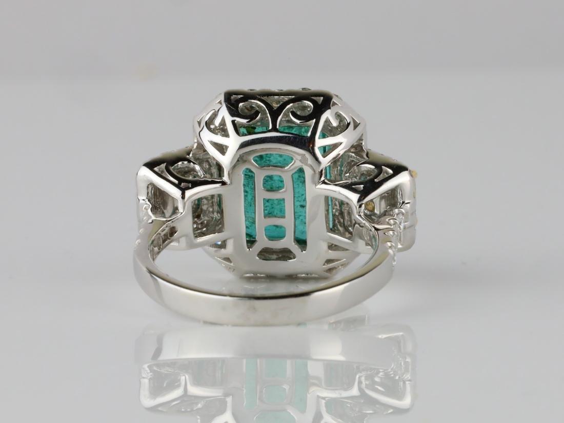 6.65ct Emerald, 2.15ctw Diamond & 18K Ring - 6
