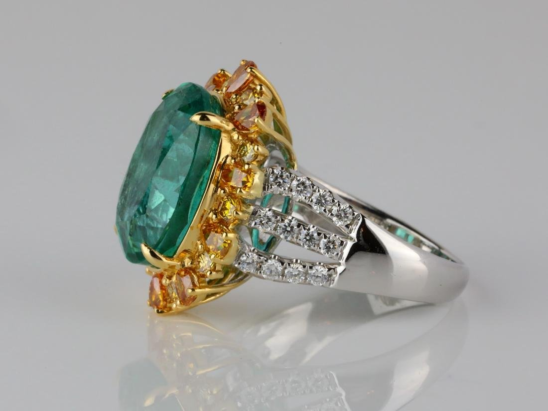 8.50ct Emerald, 2ctw VS2-SI1 Diamond & 18K Ring - 4