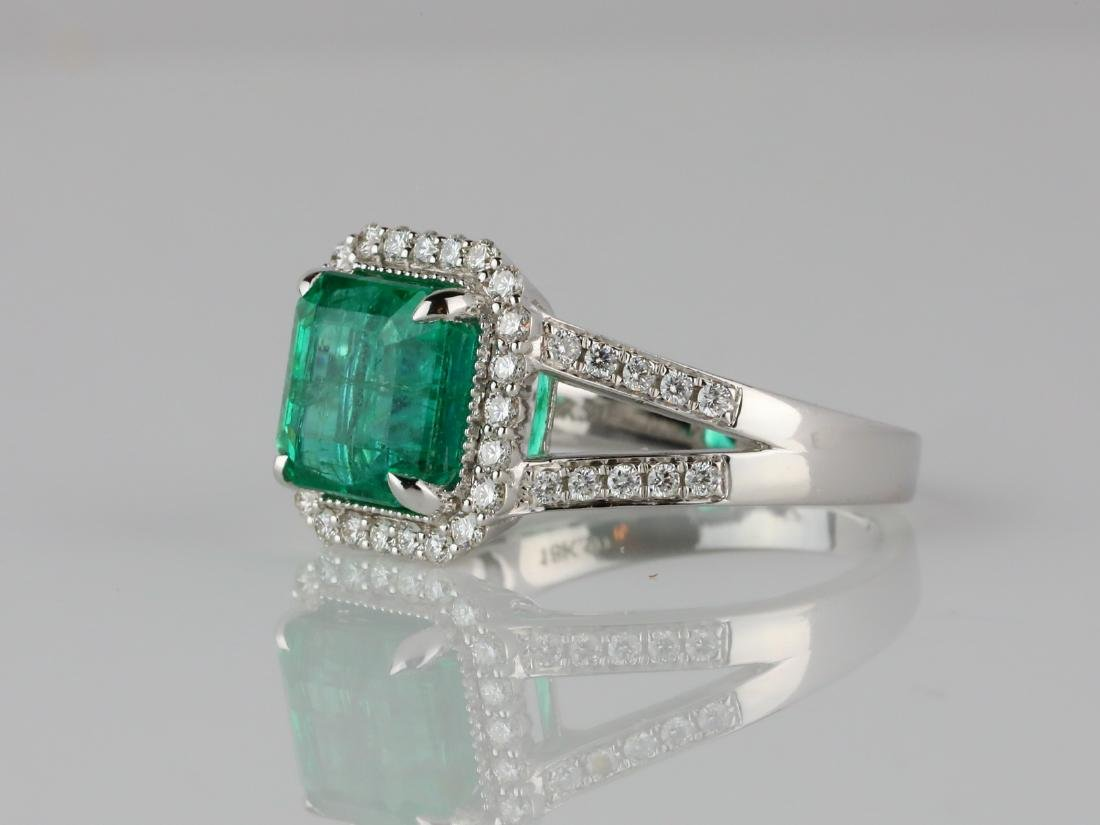 3.30ct Emerald, 0.50ctw Diamond & 18K Ring - 2