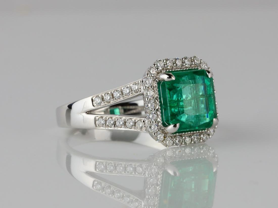 3.30ct Emerald, 0.50ctw Diamond & 18K Ring - 3