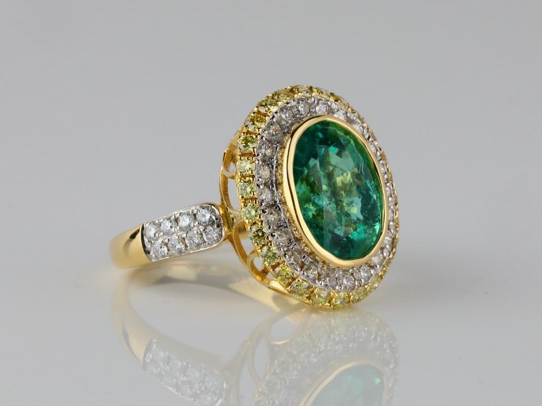 5.35ct Emerald, 1.40ctw Diamond & 18K Ring - 3