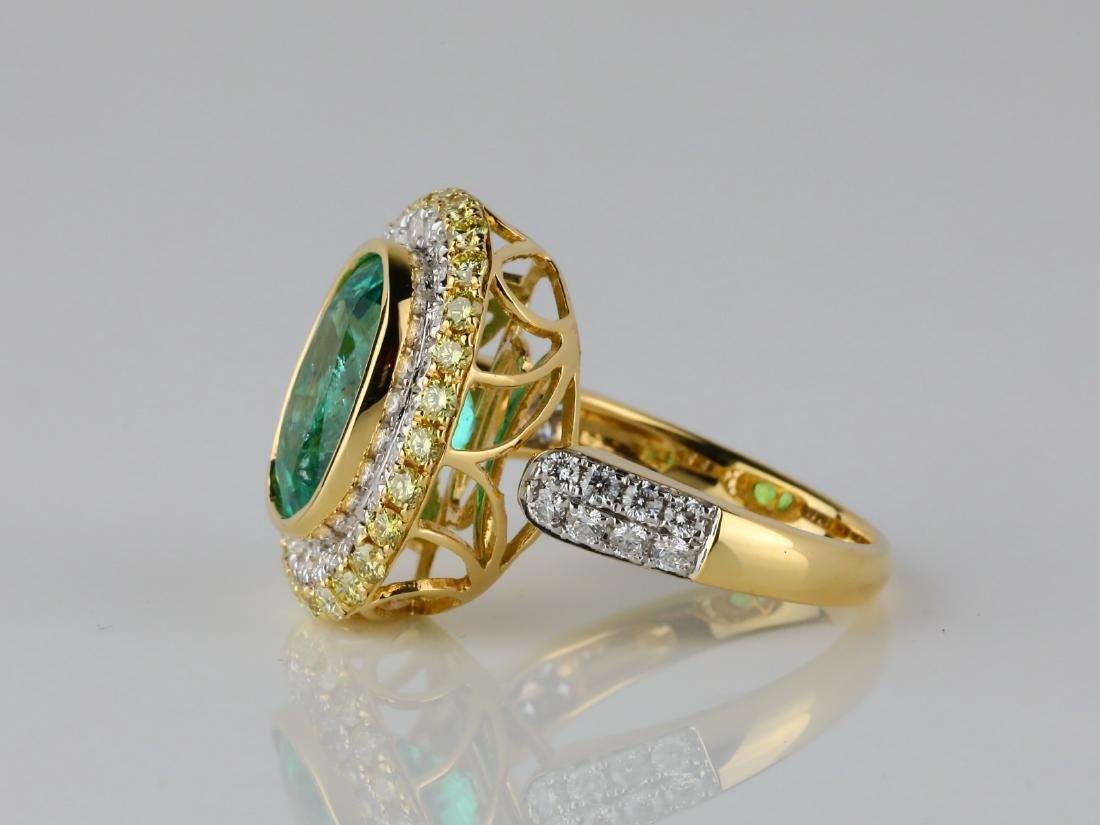 5.35ct Emerald, 1.40ctw Diamond & 18K Ring - 4