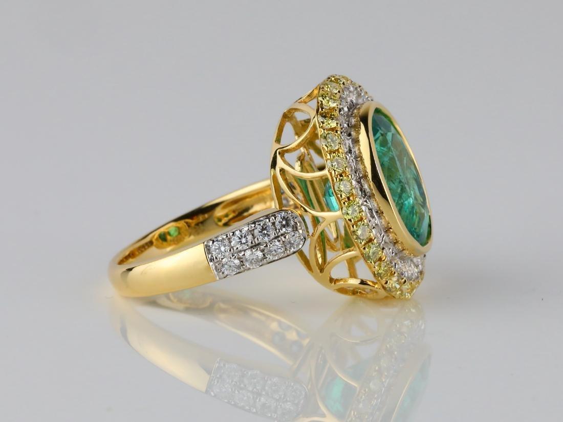 5.35ct Emerald, 1.40ctw Diamond & 18K Ring - 5