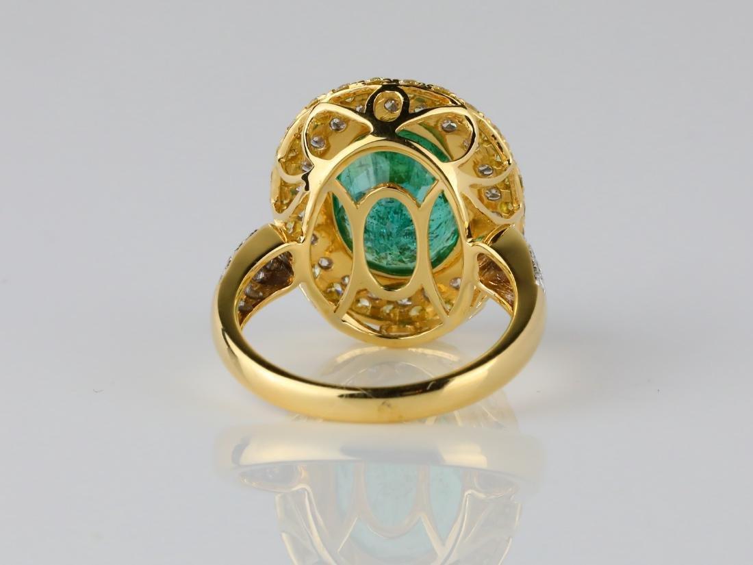 5.35ct Emerald, 1.40ctw Diamond & 18K Ring - 6