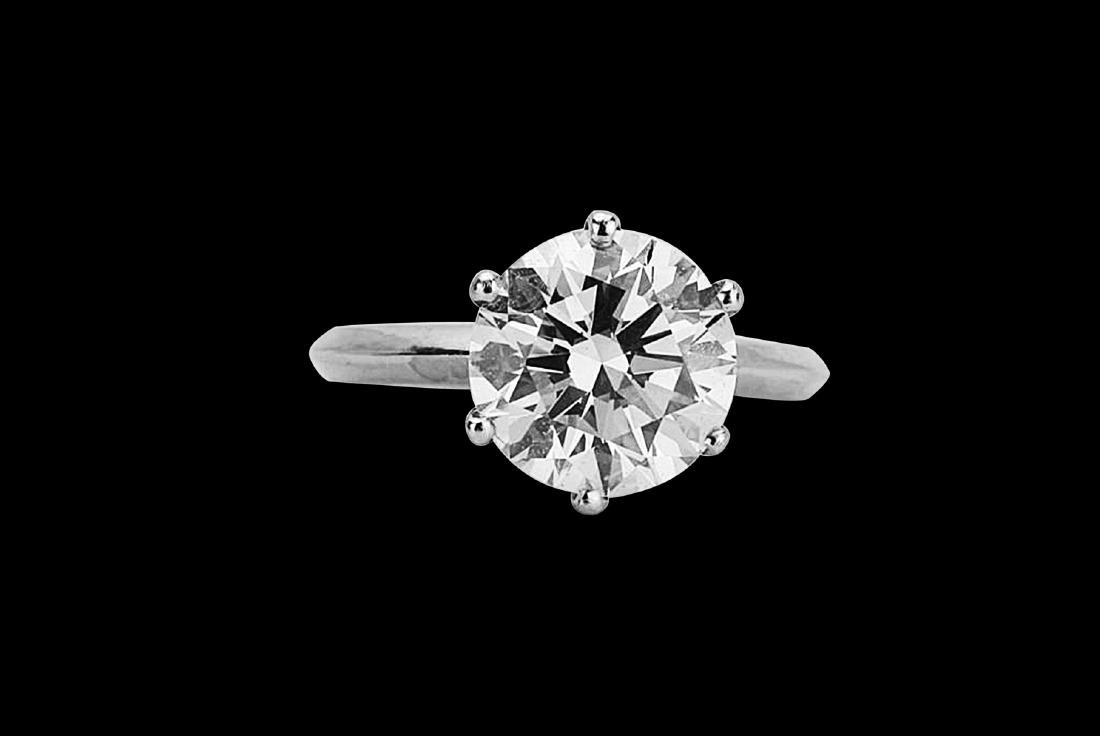 4.08ct VS2-SI1/G-H Diamond Solitaire & Platinum Band