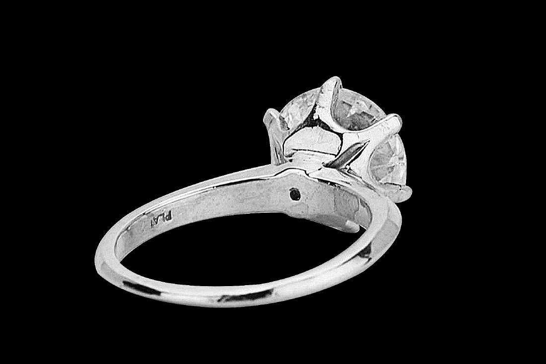 4.08ct VS2-SI1/G-H Diamond Solitaire & Platinum Band - 4