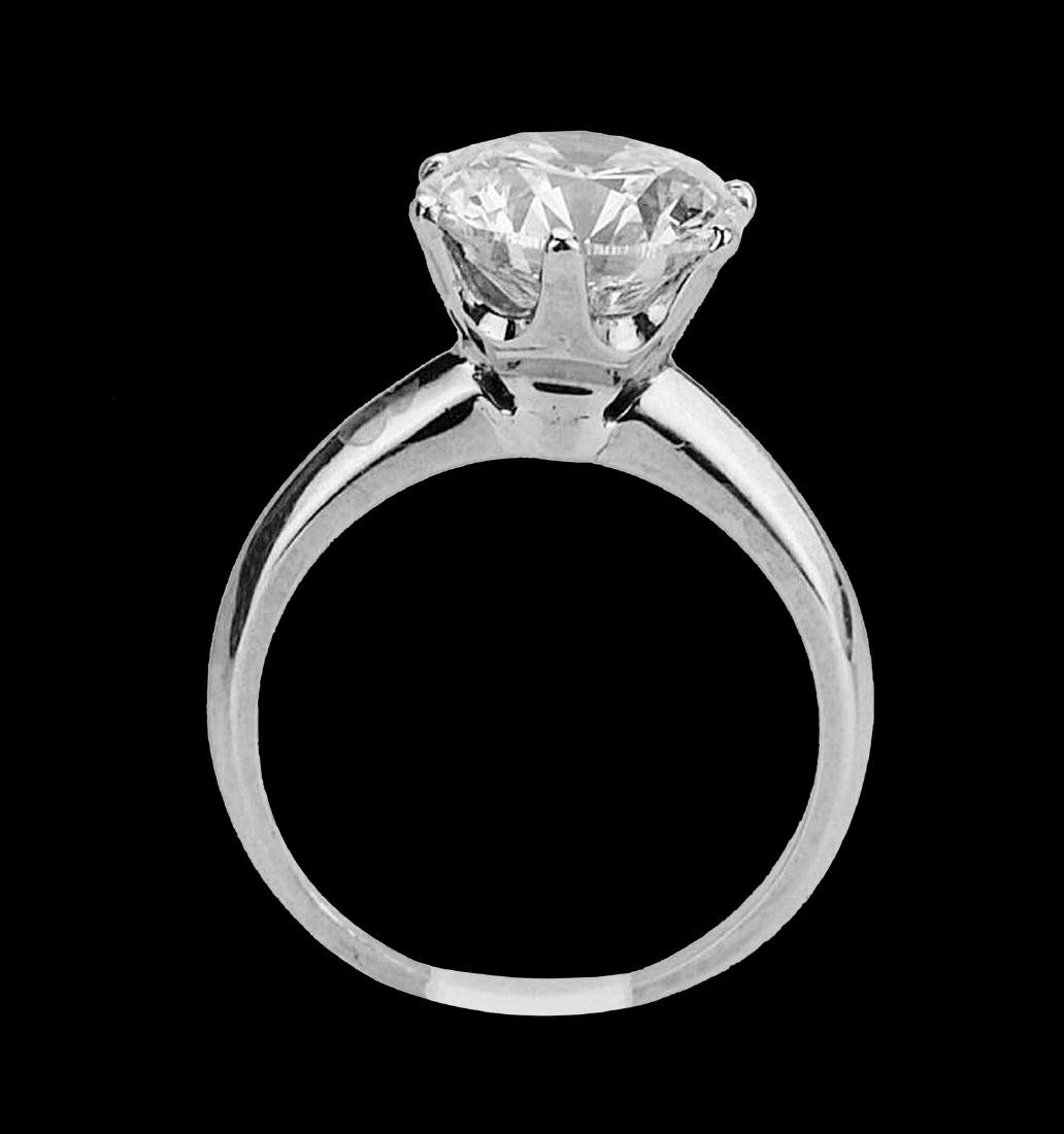 4.08ct VS2-SI1/G-H Diamond Solitaire & Platinum Band - 5