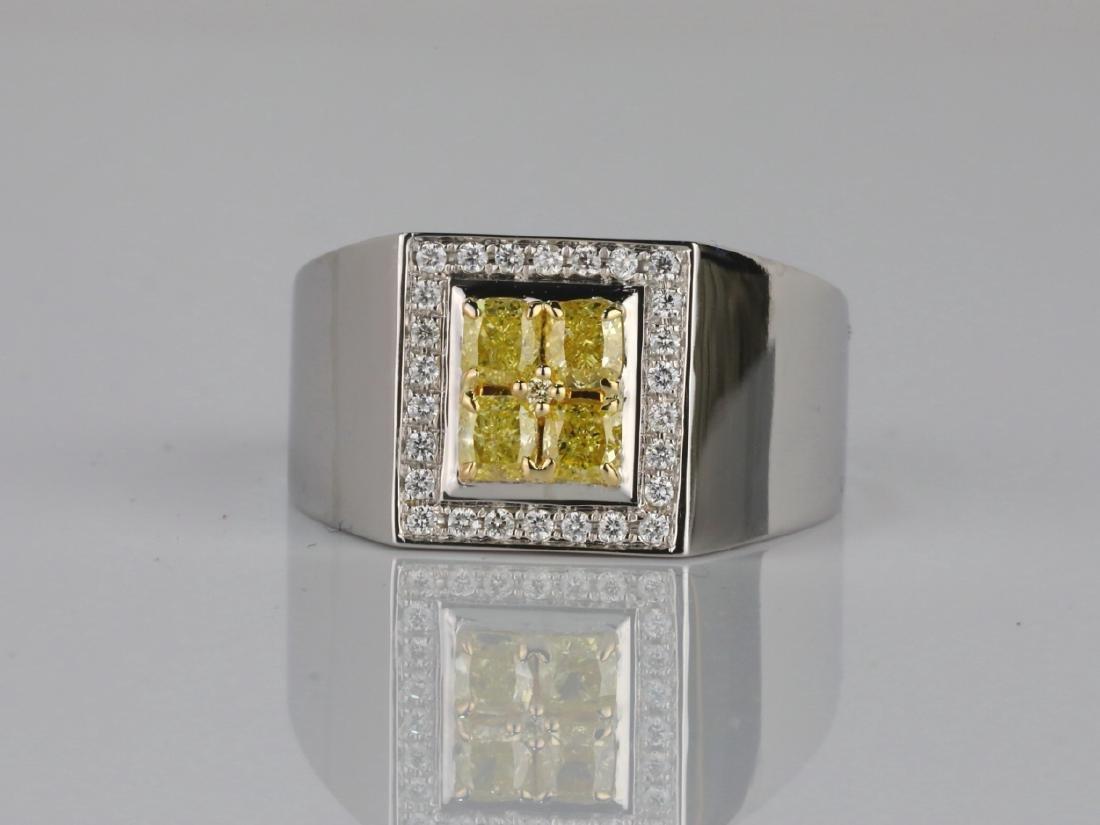 1.50ctw VS2-SI1 Yellow & White Diamond 14K Ring