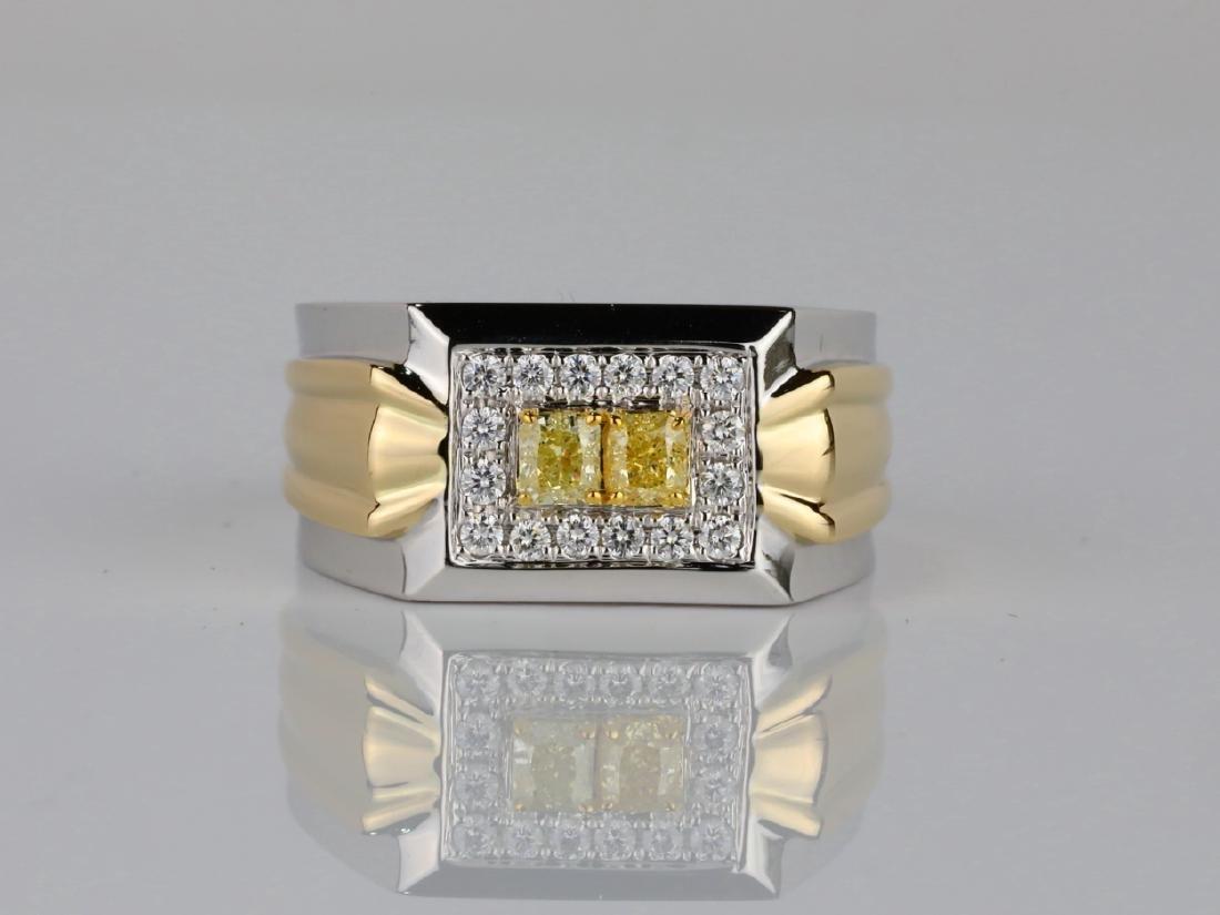 1.00ctw VS2-SI1 Yellow & White Diamond 14K Ring