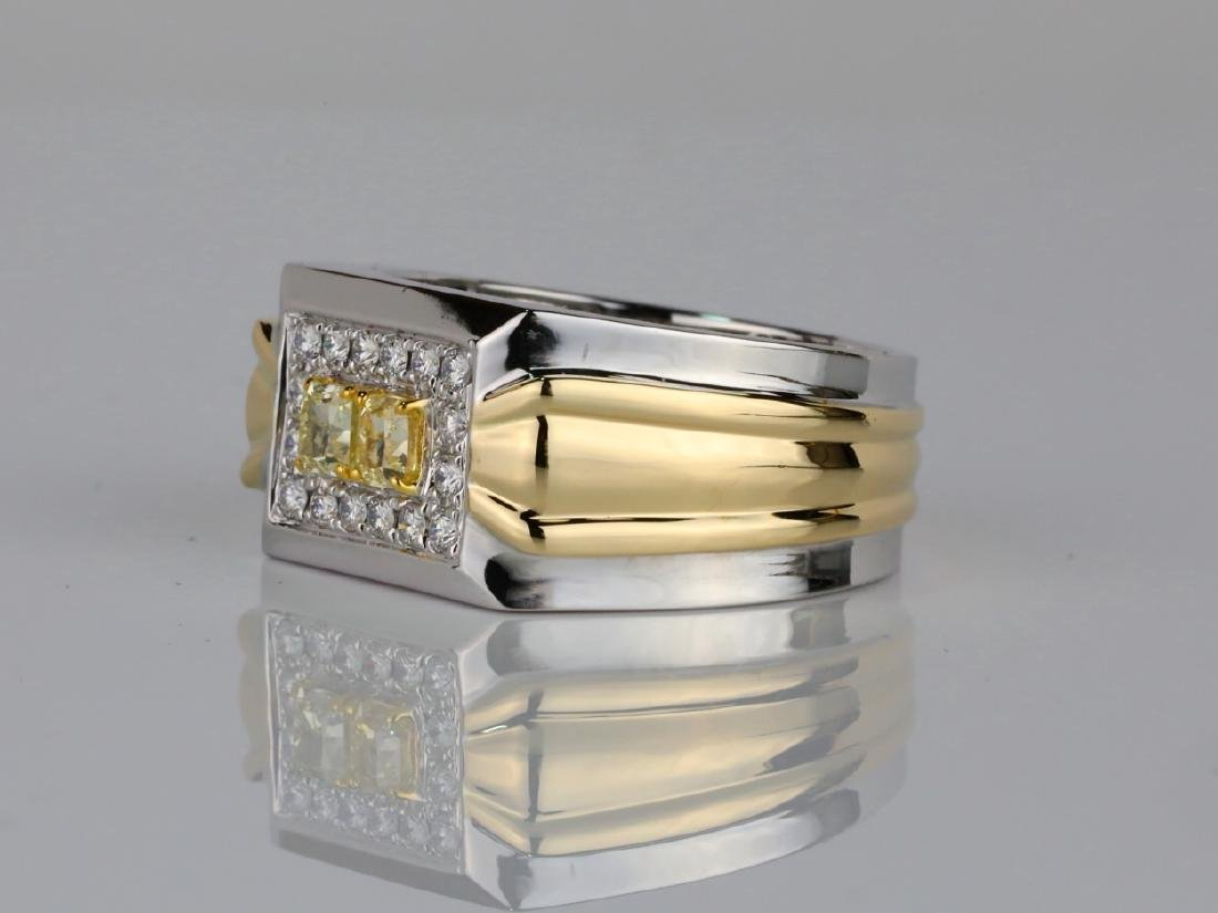1.00ctw VS2-SI1 Yellow & White Diamond 14K Ring - 2