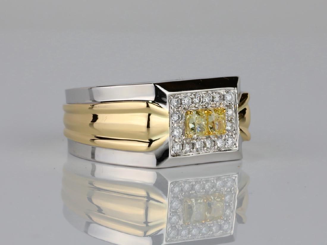 1.00ctw VS2-SI1 Yellow & White Diamond 14K Ring - 3