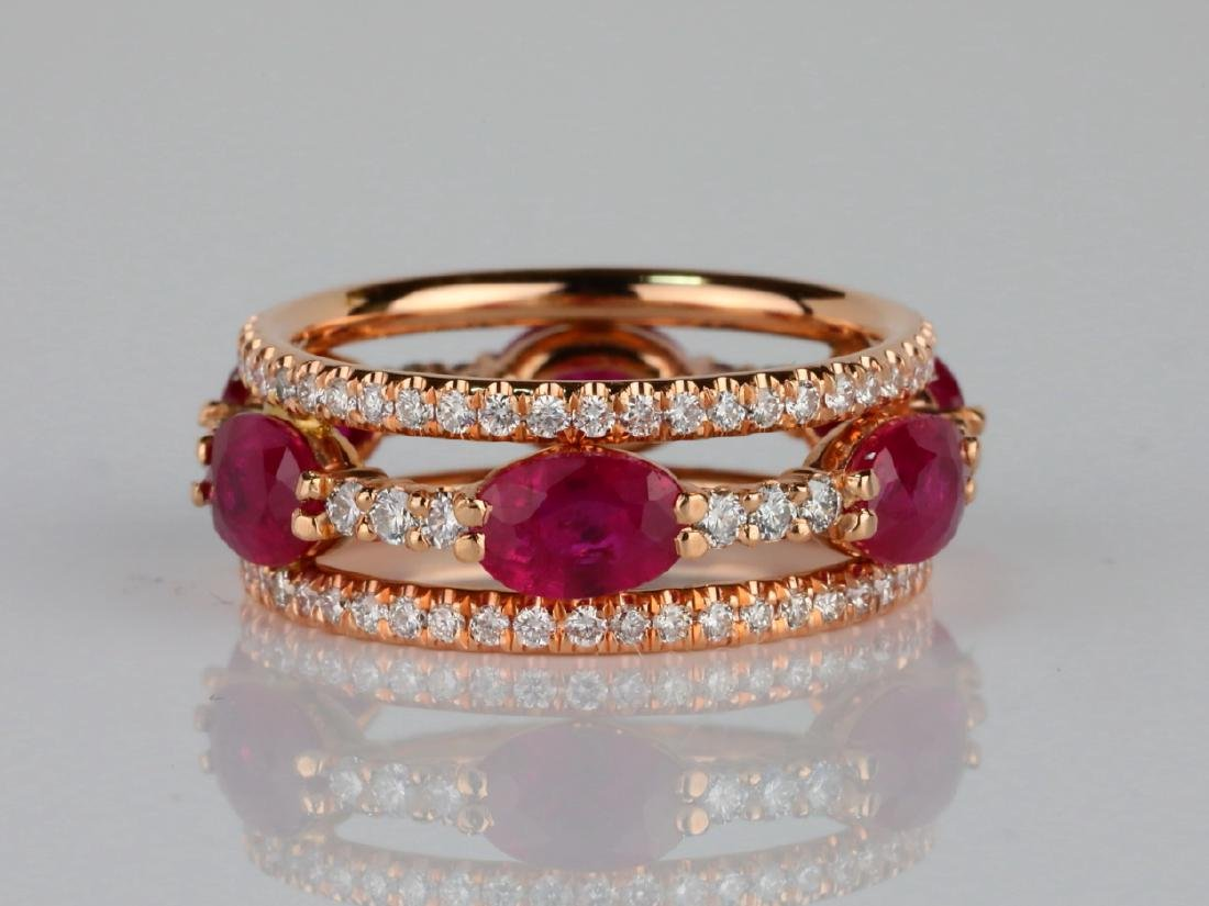 3ctw Ruby, 1.60ctw SI1-SI2/G-H Diamond 14K Ring