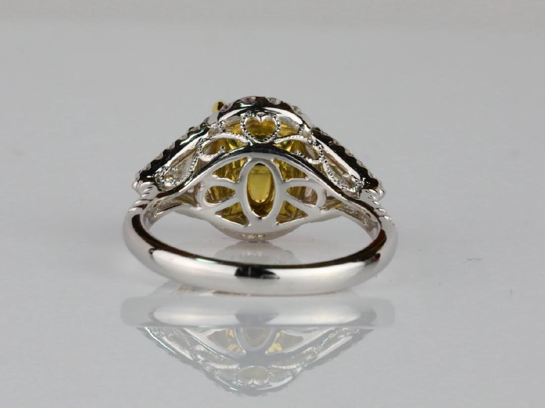 3.15ct GIA Pink Sapphire, 1ctw Diamond & 18K Ring - 6