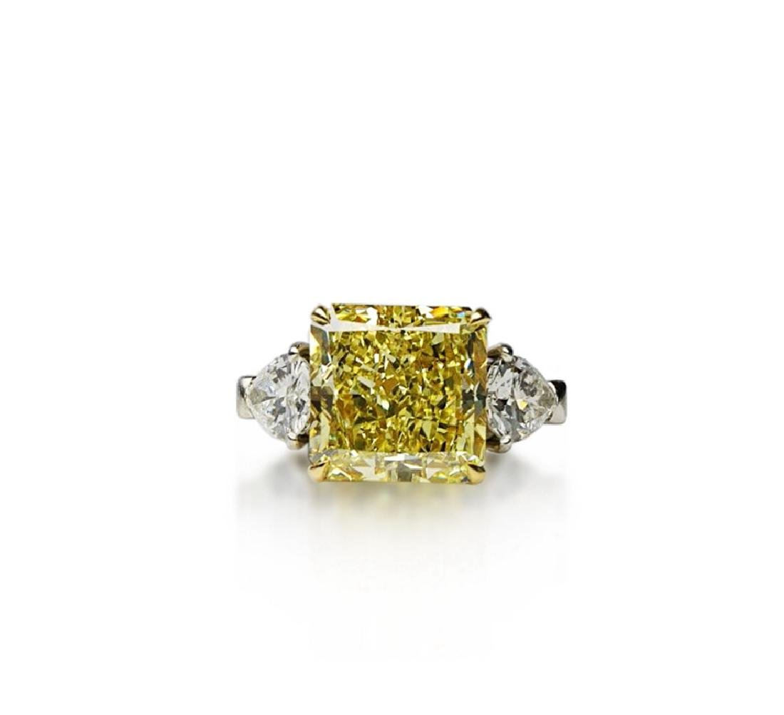 13.05ctw GIA VS1 Yellow/White Diamond Ring