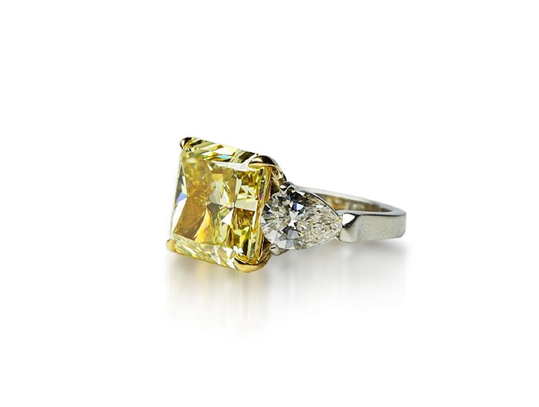 13.05ctw GIA VS1 Yellow/White Diamond Ring - 2