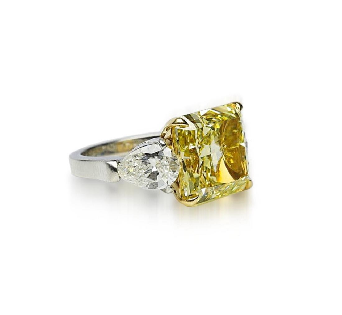 13.05ctw GIA VS1 Yellow/White Diamond Ring - 3