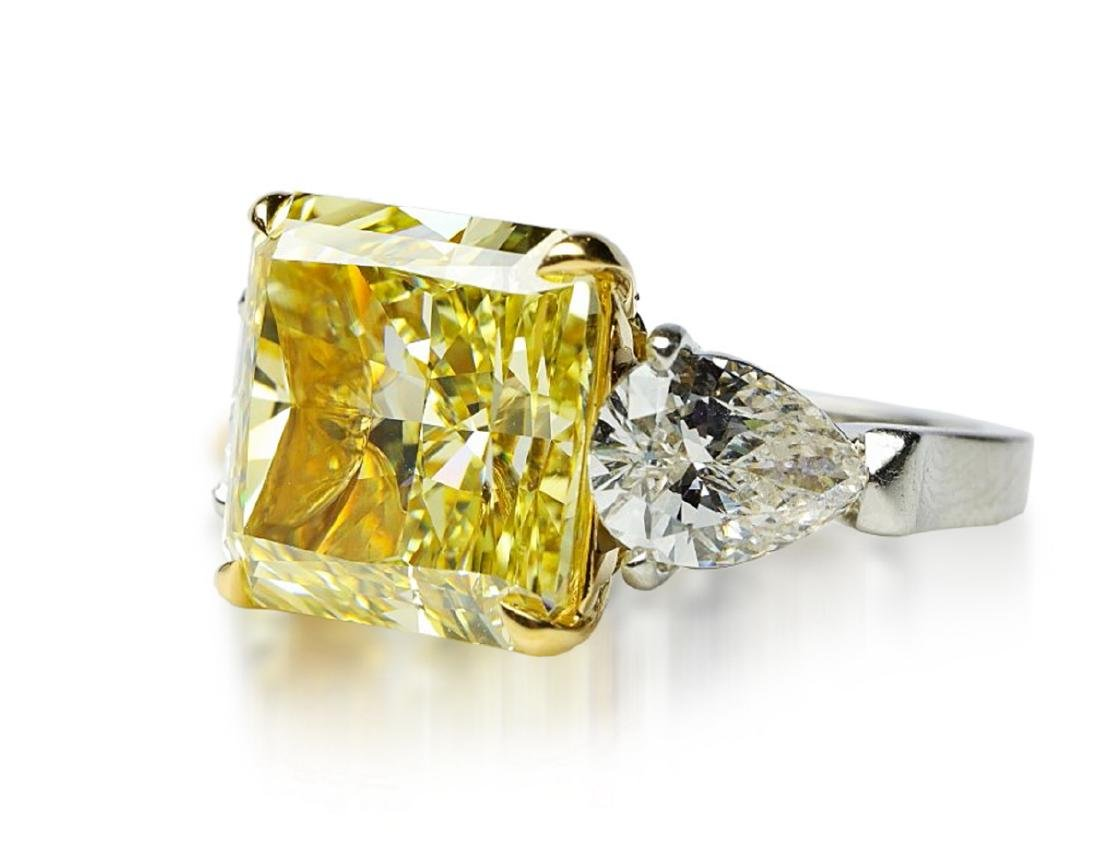 13.05ctw GIA VS1 Yellow/White Diamond Ring - 5