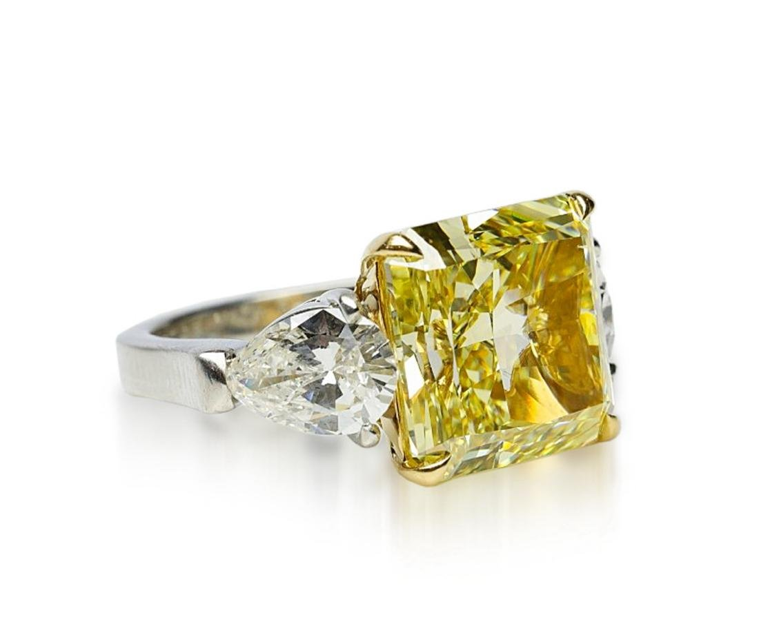 13.05ctw GIA VS1 Yellow/White Diamond Ring - 6
