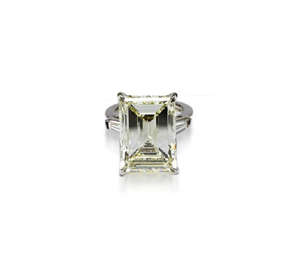 16.97ct GIA VVS2/Y-Z Diamond in Platinum Ring