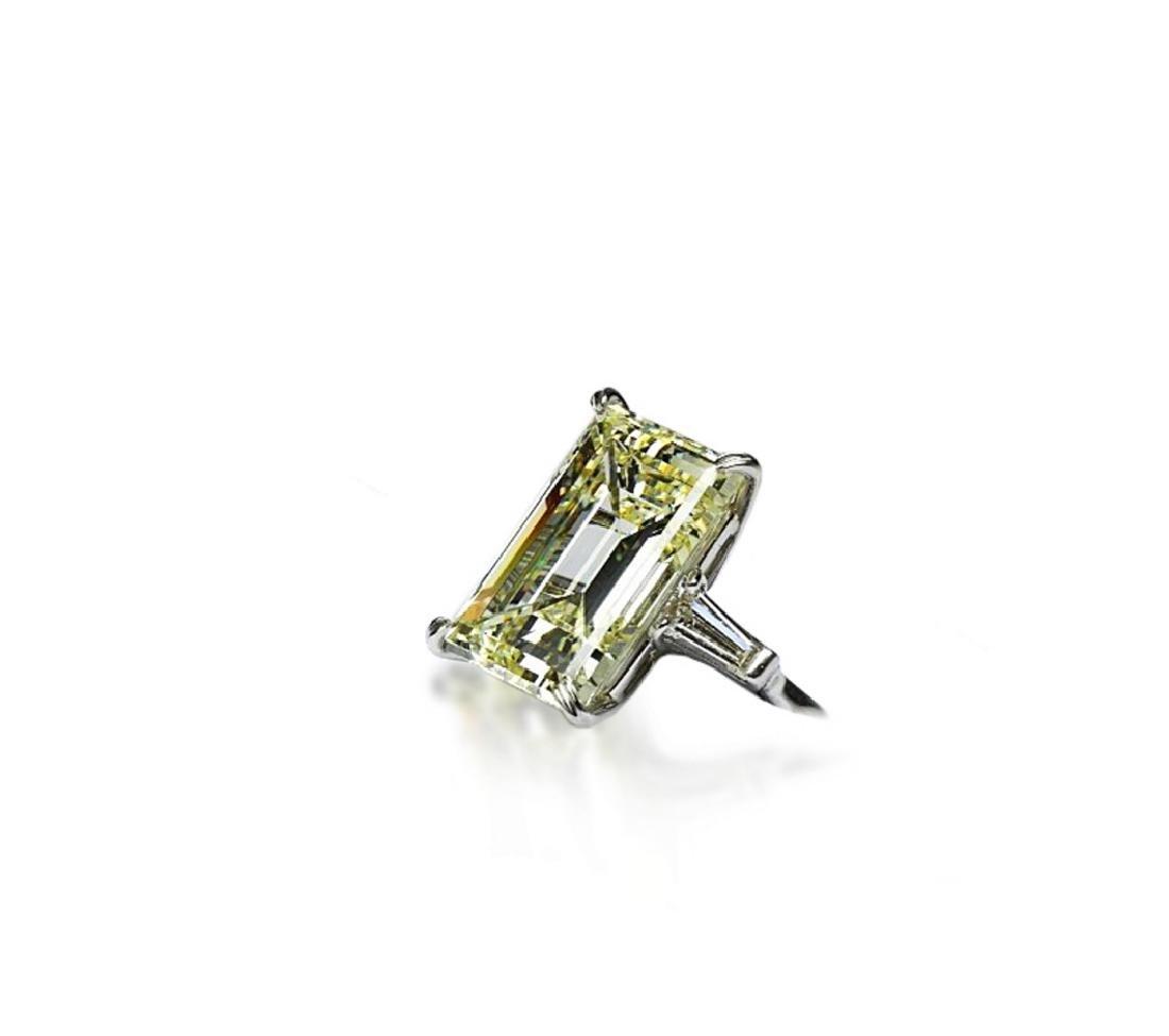 16.97ct GIA VVS2/Y-Z Diamond in Platinum Ring - 2