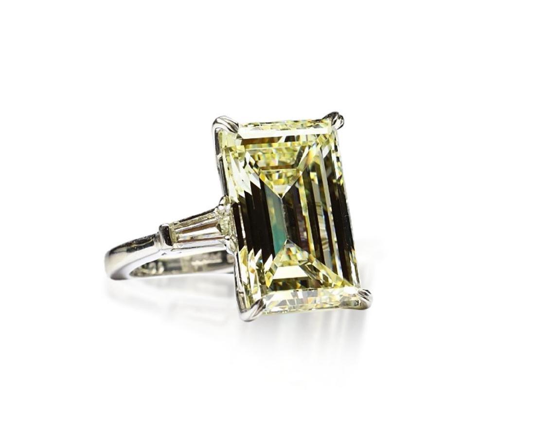 16.97ct GIA VVS2/Y-Z Diamond in Platinum Ring - 3