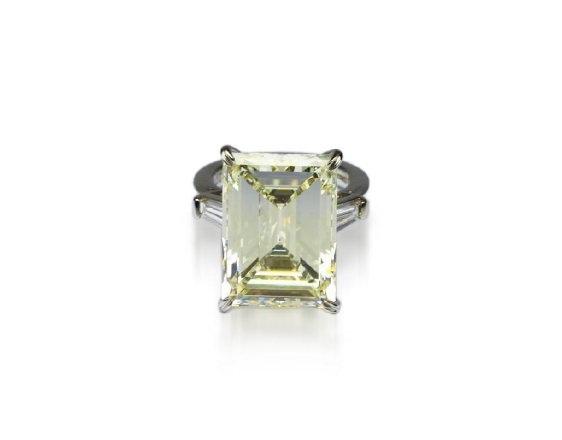 16.97ct GIA VVS2/Y-Z Diamond in Platinum Ring - 5