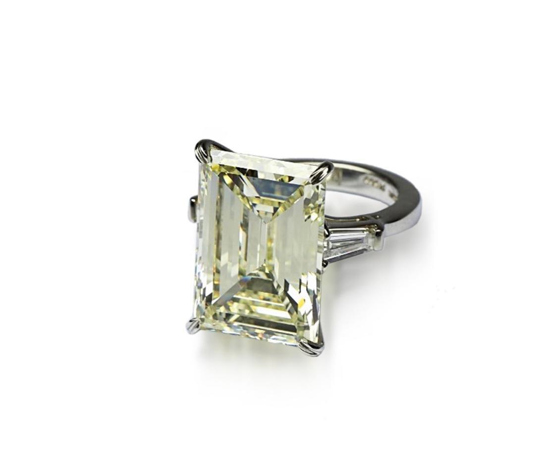 16.97ct GIA VVS2/Y-Z Diamond in Platinum Ring - 6