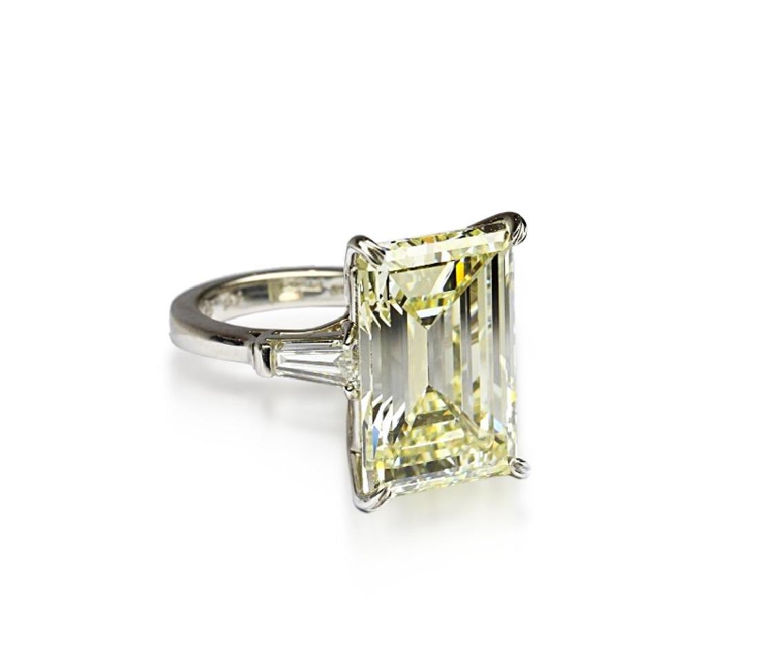 16.97ct GIA VVS2/Y-Z Diamond in Platinum Ring - 7