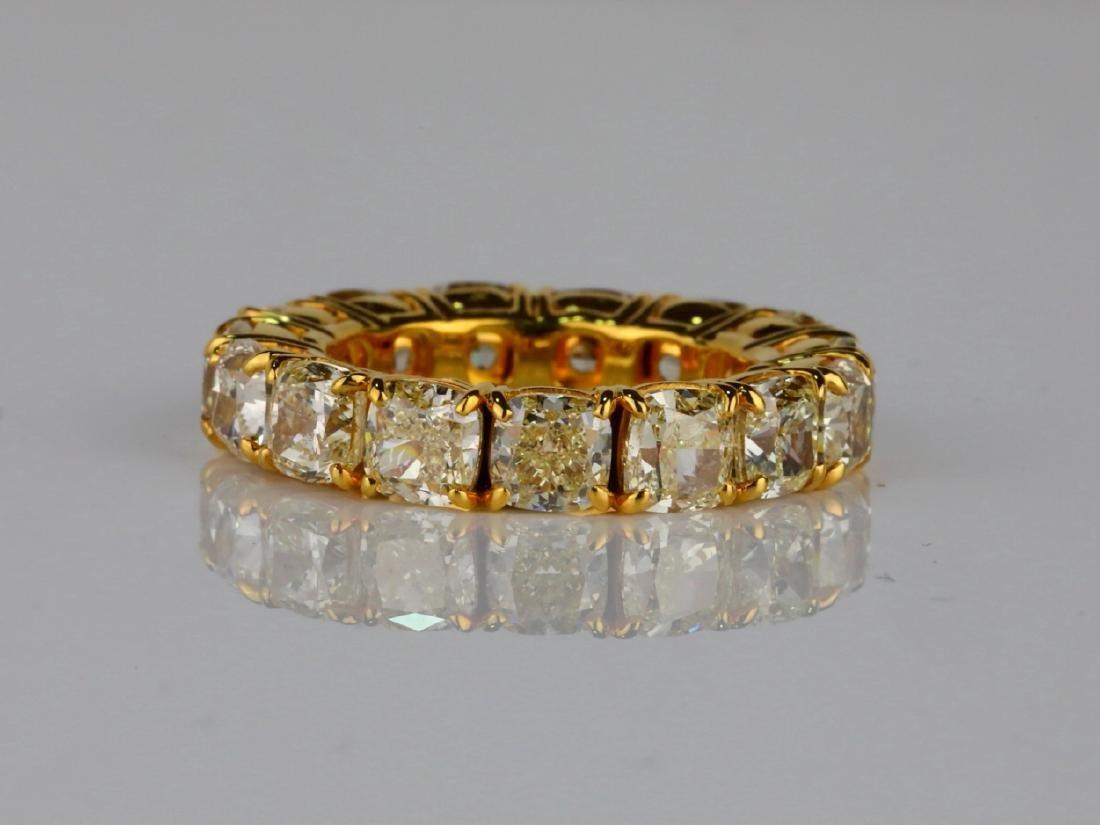 10.79ctw VS2-SI1 Fancy Yellow Diamond & 18K Band - 2