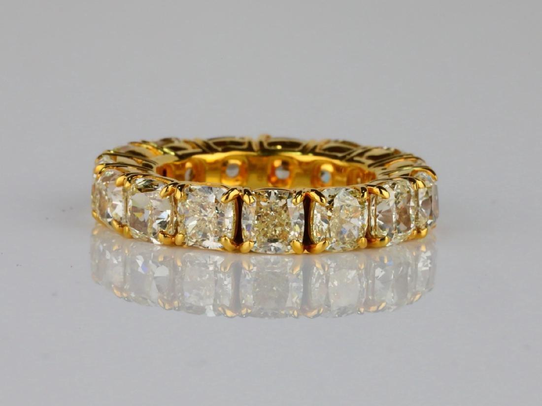 10.79ctw VS2-SI1 Fancy Yellow Diamond & 18K Band - 3