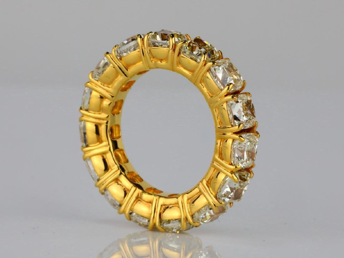 10.79ctw VS2-SI1 Fancy Yellow Diamond & 18K Band - 4