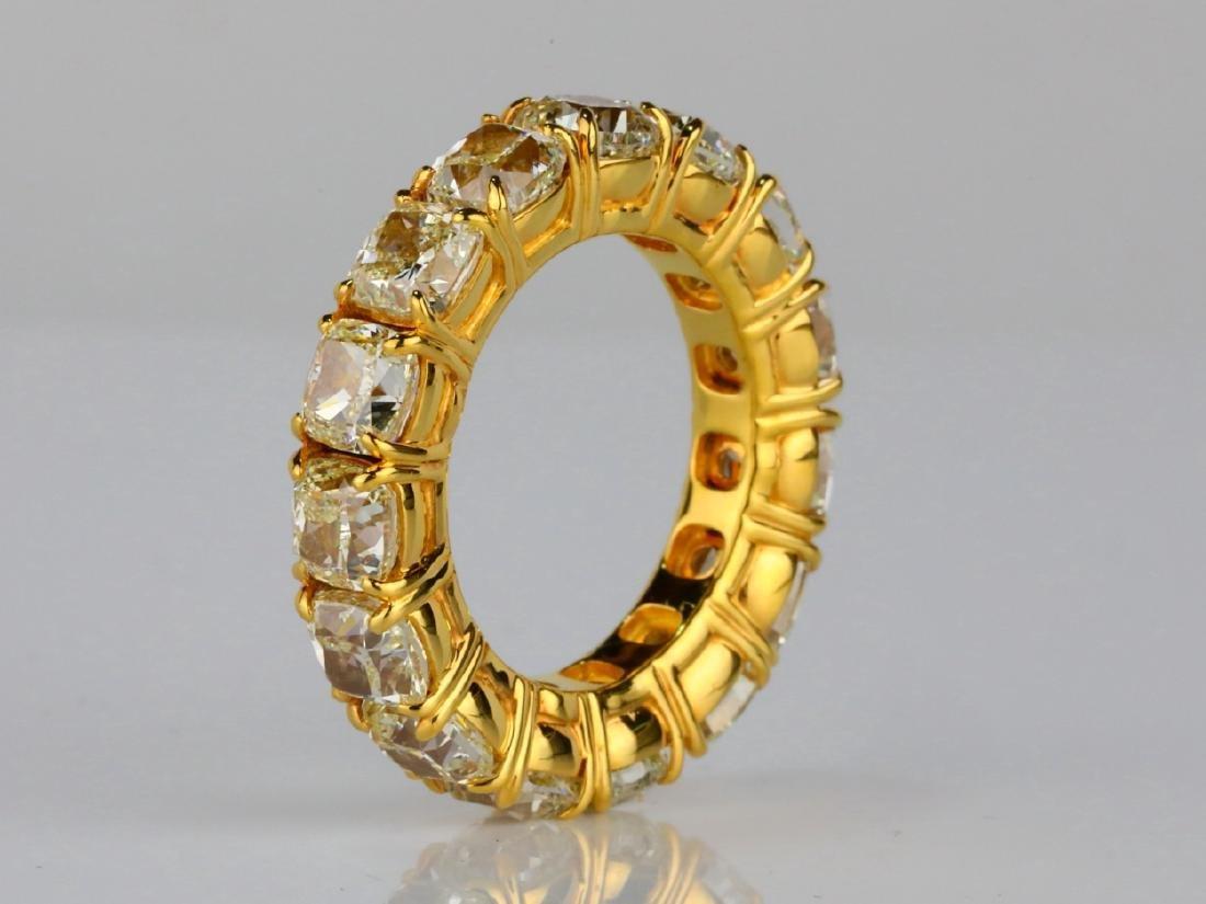 10.79ctw VS2-SI1 Fancy Yellow Diamond & 18K Band - 5