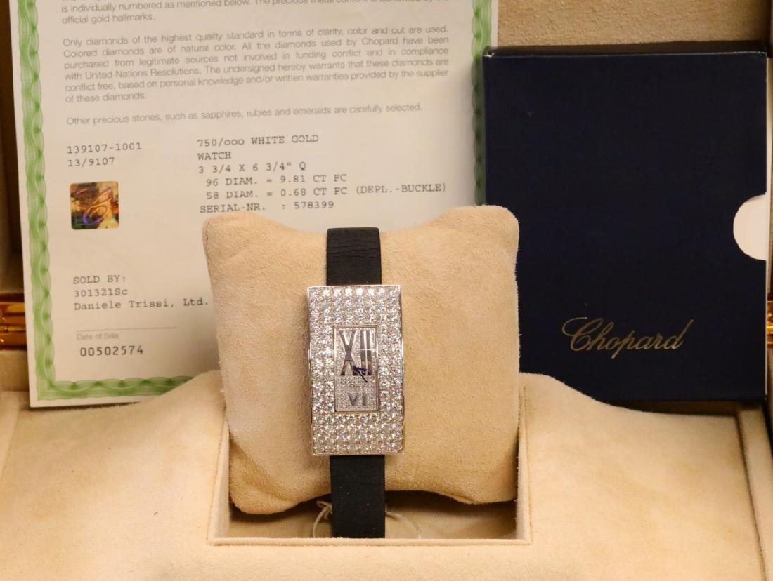 Chopard 10.49ctw Diamond & 18K Watch W/Papers