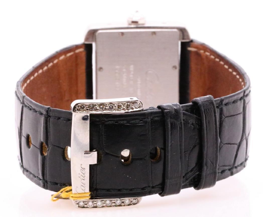 Cartier Tank Divan Custom 3.8ctw Diamond SS Watch - 6