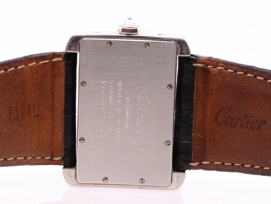 Cartier Tank Divan Custom 3.8ctw Diamond SS Watch - 7