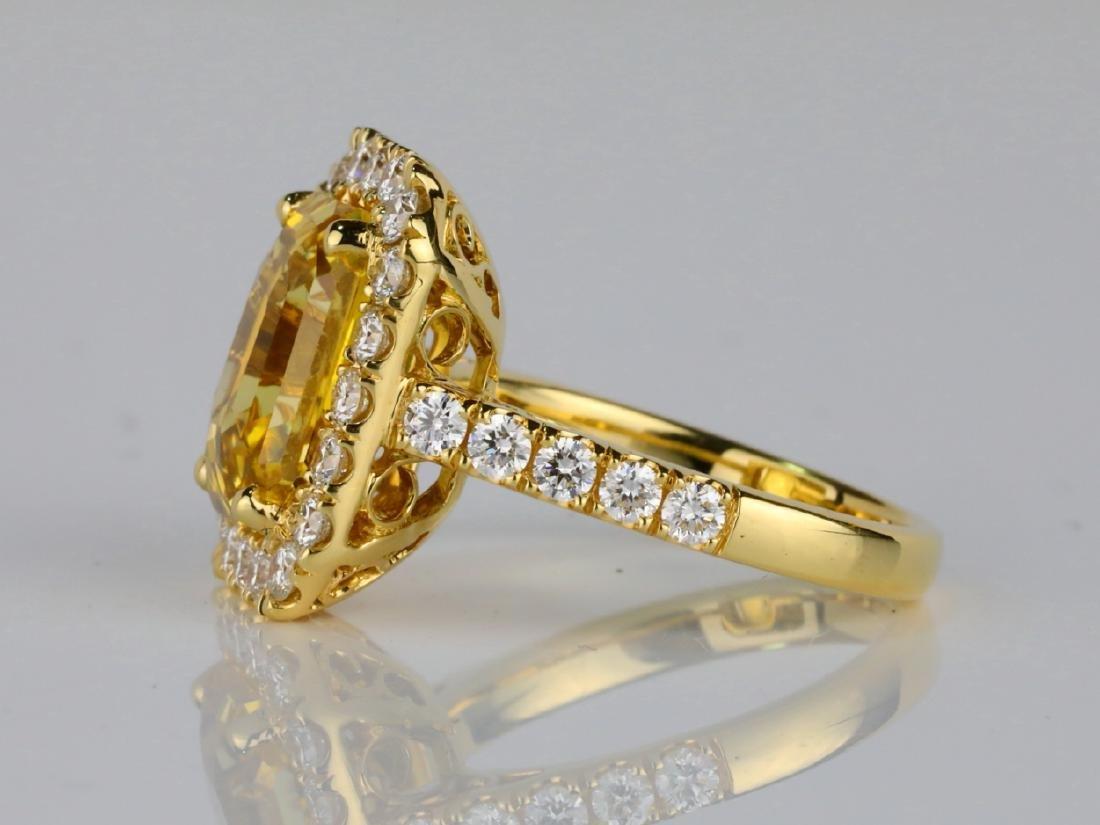 7.79ct GIA Yellow Sapphire & 1.50ctw Diamond Ring - 4