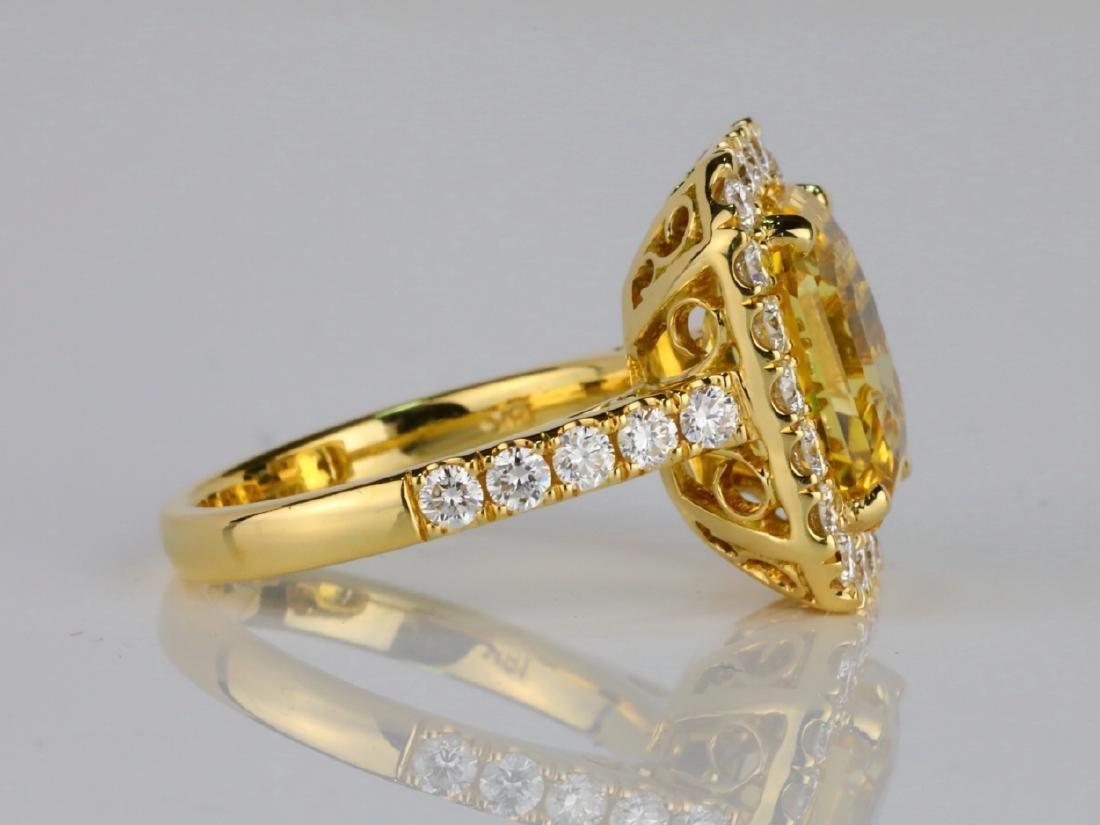 7.79ct GIA Yellow Sapphire & 1.50ctw Diamond Ring - 5