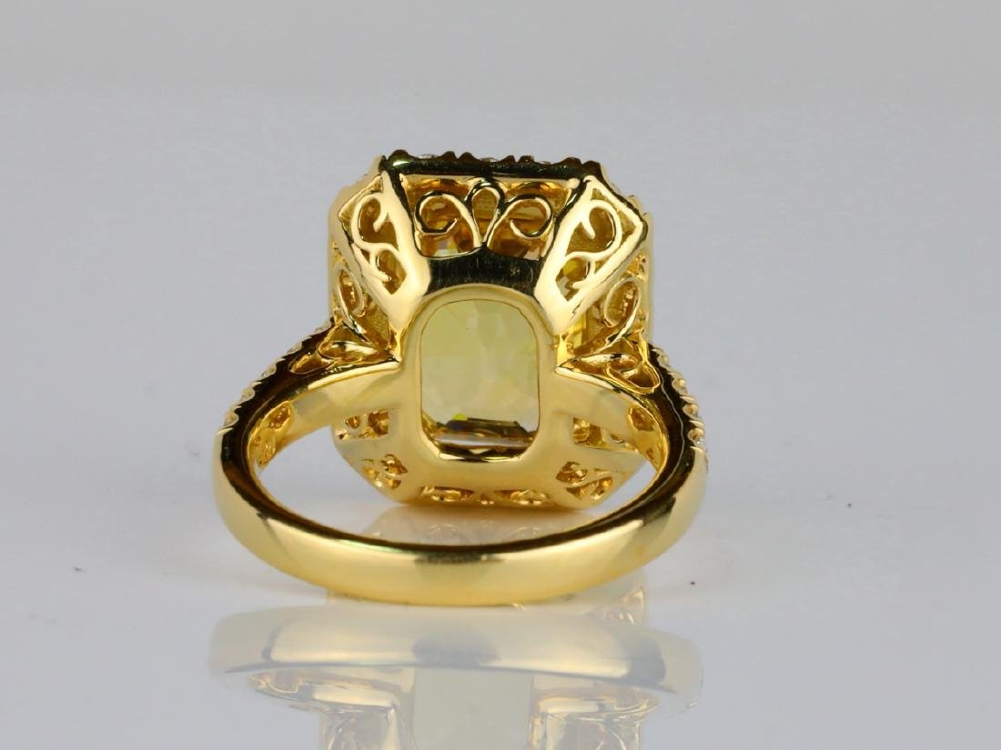 7.79ct GIA Yellow Sapphire & 1.50ctw Diamond Ring - 6