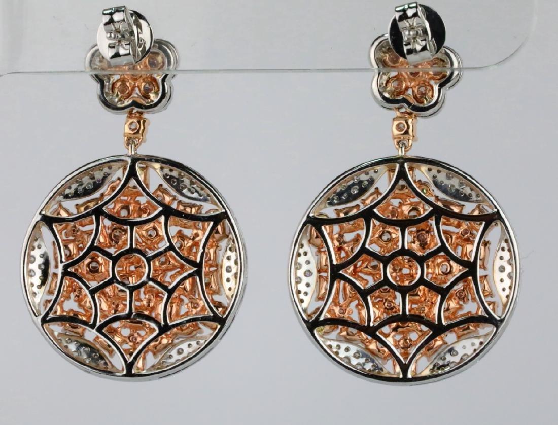 7.50ctw Argyle Pink & White Diamond 18K Earrings - 4