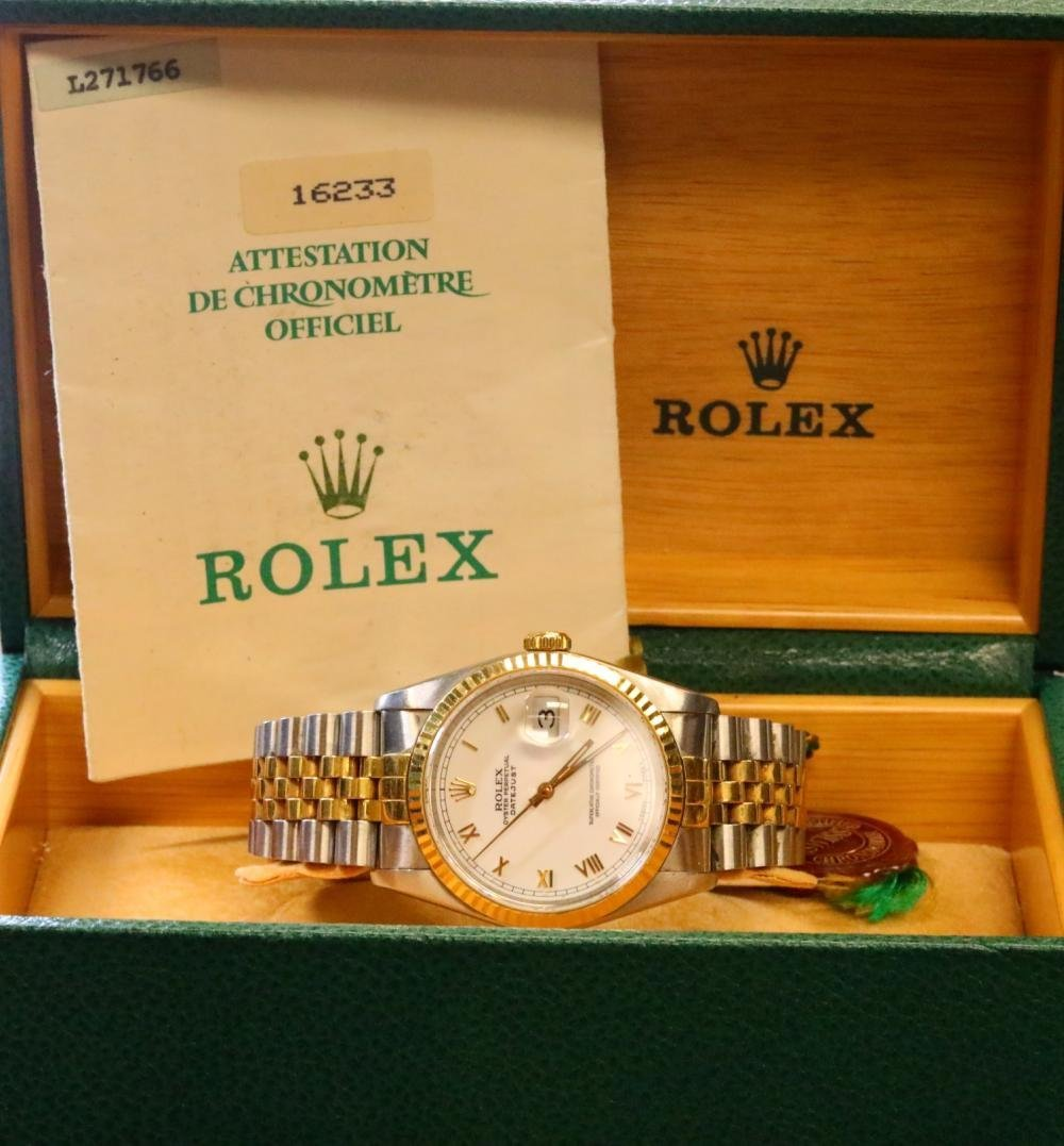 Rolex 1989 Datejust 18K & Stainless Steel Watch