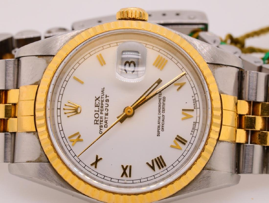 Rolex 1989 Datejust 18K & Stainless Steel Watch - 3